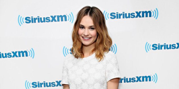 NEW YORK, NY - JANUARY 27: Actress Lily James visits the SiriusXM Studios on January 27, 2016 in New...