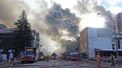 Voyez en images l'incendie d'avenue du