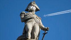Greenpeace habille les statues de Londres de masques anti-pollution