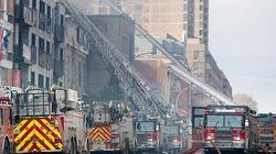 Incendie sur l'avenue du Parc à