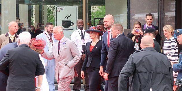 Visite royale à l'inauguration du Centre national des arts