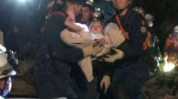 Japon: un bébé de huit mois sauvé des décombres