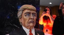 Ce gâteau à l'effigie de Donald Trump a bien amusé les