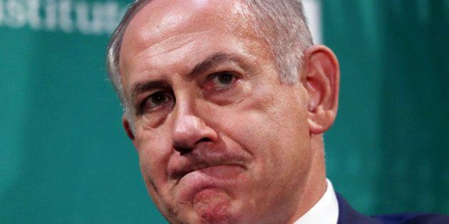 Israeli Prime Minister Benjamin Netanyahu delivers remarks at the Hudson Institute's Herman Kahn Award...