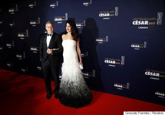 César 2017: Amal et George Clooney magnifiques sur le tapis rouge