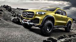 L'arrivée d'une camionnette chez Mercedes-Benz n'est pas un