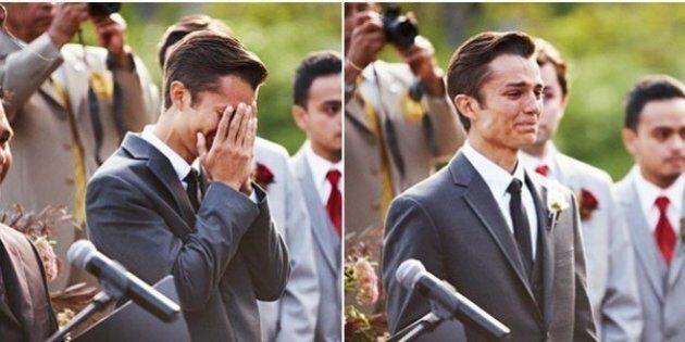24 jeunes hommes sur le point de se marier qui fondent en larmes