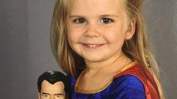 Pour sa photo de classe, cette fillette a choisi d'être