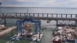 Le futur pont Champlain vu d'un