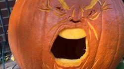 Les effrayantes citrouilles à l'effigie de Donald