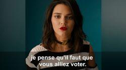 Leonardo DiCaprio, Kendall Jenner et Olivia Wilde se mobilisent pour la présidentielle