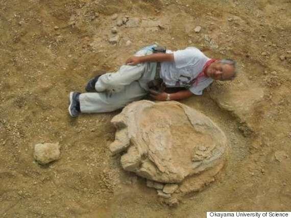 Une trace géante de pas de dinosaure découverte en