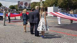 Trump et Macron saluent leurs militaires au défilé du 14