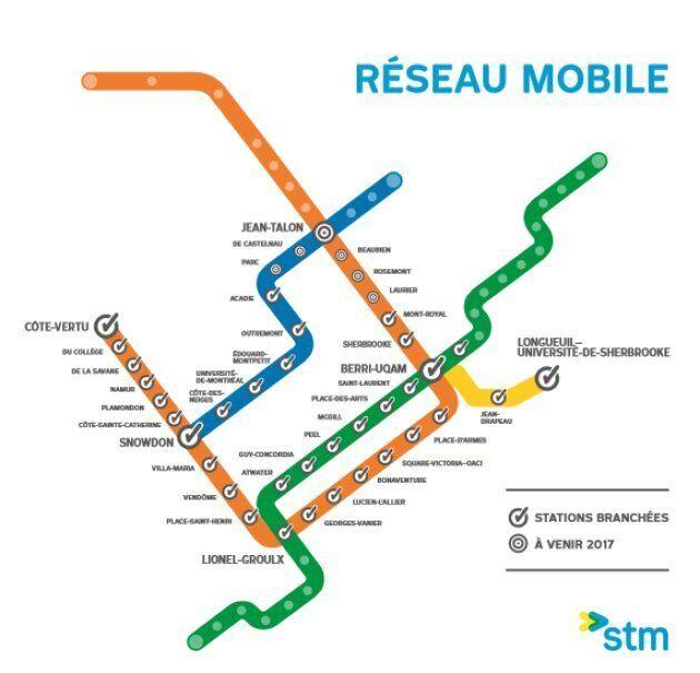 La moitié du métro de Montréal est maintenant branchée au réseau