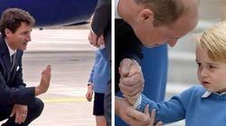Le prince George ne voulait vraiment pas que Justin Trudeau le touche