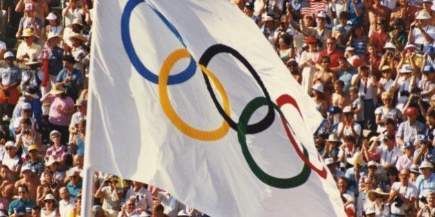 1988 SUMMER OLYMPIC GAMES -- Pictured: The Olympic Flag in Seoul, South Korea -- Photo by: NBCU Photo Bank