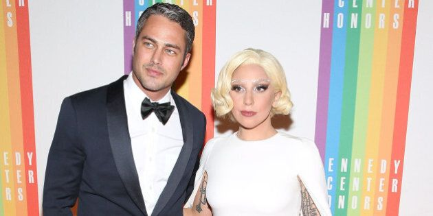 WASHINGTON, DC - DECEMBER 07: Taylor Kinney and Lady Gaga arrive at the 37th Annual Kennedy Center Honors...