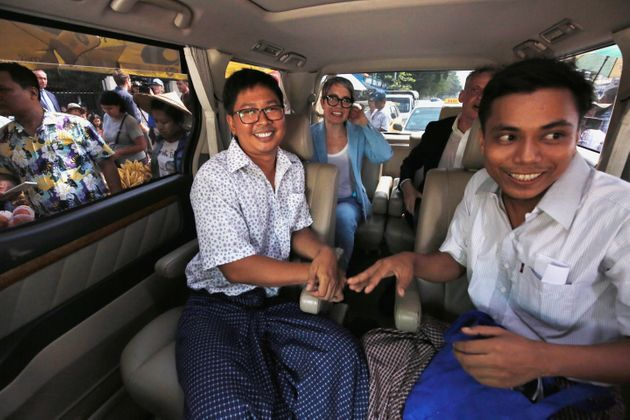 Reuters Journalists Wa Lone And Kyaw Soe Oo Freed From Myanmar