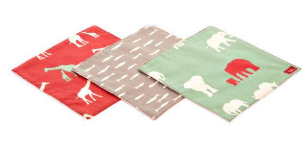 Voici les mouchoirs en tissus pour enfants mini-TSHU écologiques et