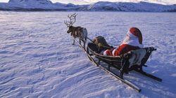 Le père Noël a commencé sa tournée, traqué par le commandement militaire