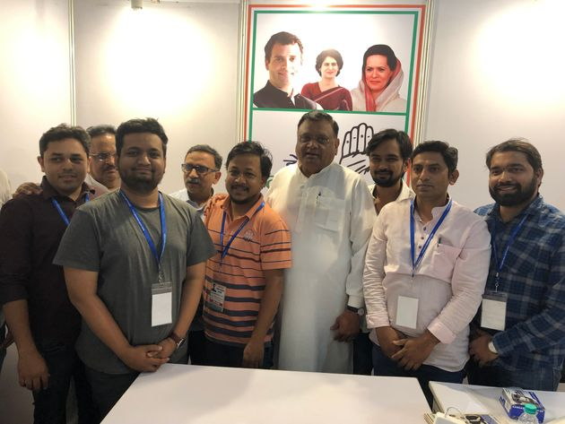 The team of youngsters from Maharashtra along with Congress general secretary Avinash