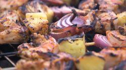 Brochette de crevettes et