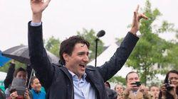 Justin Trudeau est de passage à Québec pour célébrer la fête