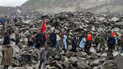 Un village de la Chine dévasté par un glissement de