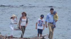 Une marche en famille pour Justin Trudeau à