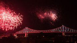 Le pont Jacques-Cartier illuminé, prise
