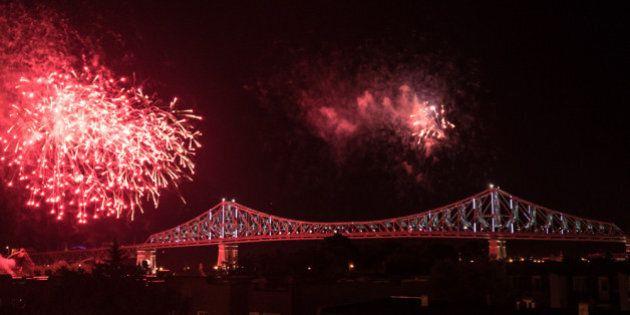Le pont Jacques-Cartier illuminé, prise deux!