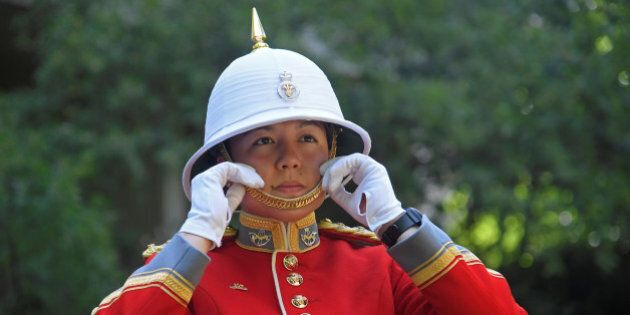 Captain Megan Couto of the 2nd Battalion, Princess Patricia's Canadian Light Infantry, poses for a photograph...