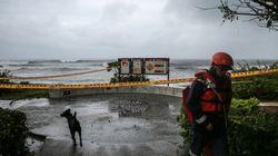 Un puissant typhon s'approche de