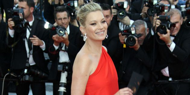 CANNES, FRANCE - MAY 16:  Kate Moss attends the 'Loving' premiere during the 69th annual Cannes Film Festival at the Palais des Festivals  on May 16, 2016 in Cannes, .  (Photo by Laurent Viteur/FilmMagic)