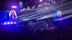 Céline Dion donne le pointage de la France en plein concert
