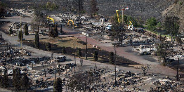 La ville d'Ashcroft a été ravagée par les feux.