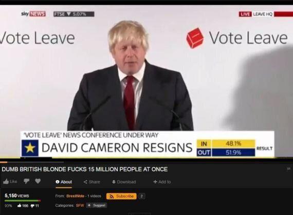 Un discours de Boris Johnson a été mis sur Pornhub. Et le titre de la vidéo se