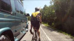 Un cycliste frôle la mort à Sainte-Sophie