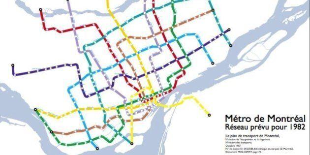 Rêver le métro: Neuf plans d'extension du réseau montréalais qui n'ont jamais vu le jour