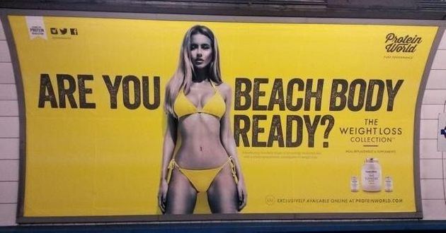 Les publicités irréalistes bannies du métro de