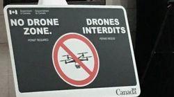 Des panneaux «Drones interdits» près des aéroports