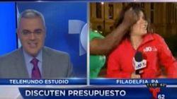 Une journaliste frappée au visage pendant un direct