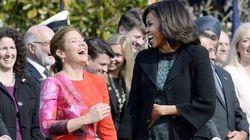 Le cadeau de Michelle Obama à Sophie Grégoire Trudeau est très