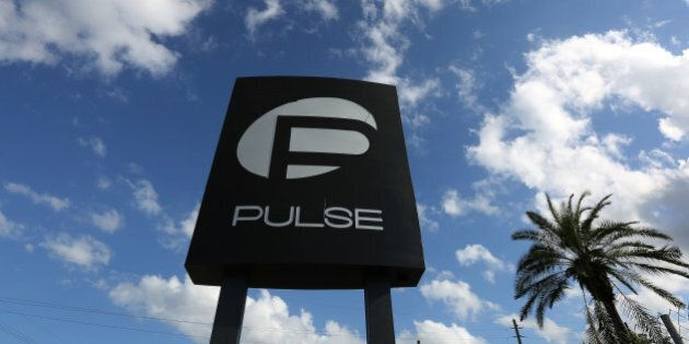 The Pulse night club sign is pictured following the mass shooting last week in Orlando, Florida, U.S.,...