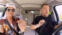 Bruno Mars et James Corden pètent le feu dans le dernier «Carpool