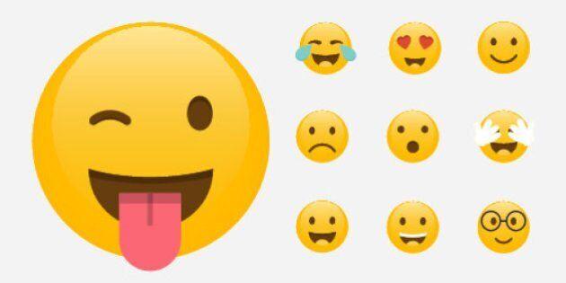 Set of Emoticons. Emoji flat design, avatar design. Vector illustration isolated on white