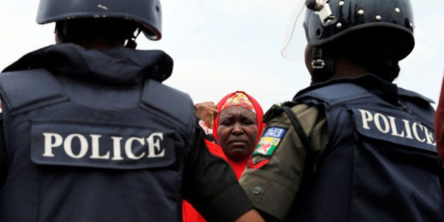 #Bring Back Our Girls (BBOG) campaigners and parents of abducted Chibok girls denied access by police...