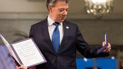Le président colombien reçoit son prix