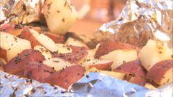 Pommes de terre à l'ail et au