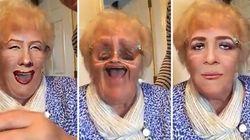 Cette grand-maman découvre les filtres: rires garantis!